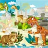 JIGSAW PUZZLE WITH DINOSAURS