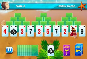 THREE PEAK SOLITAIRE FOR TABLET