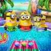 THE MINIONS IN THE POOL