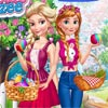 ELSA AND ANNA AT EASTER